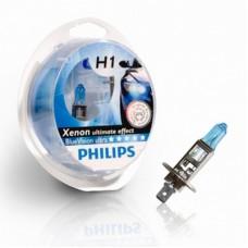 Автолампа H1 (55) P14.5s BLUE VISION (2шт+2шт W5W) 12V