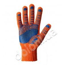 Перчатки DOLONI-794 Multi оранжевые с рисунком ПВХ