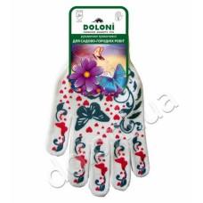 Перчатки DOLONI-871 FEM-женские (чёрные/белые с рисунком)