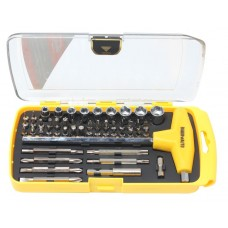 T-handle hex socket wrench 8mm set with bit and socket holder 52pcs, in a plastic case