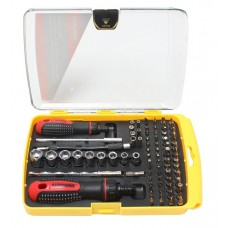 Multi-purpose reversible telescopic scredrivers set with flexible extancions and bit and socket set