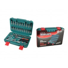 Tool set 46pcs 1/4''(6 point, 4-14mm)