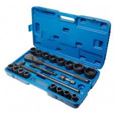 Air impact socket set ''Profi''21pcs 3/4'', 6 point (17, 19, 21, 22, 24, 27, 30, 32, 34, 35, 36, 36-12