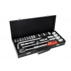 Tool set ''Profi''26pcs 1/2'', 6 point, 8-32mm, in a metal case