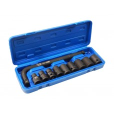 Air impact socket set 10pcs 1/2''(10, 12, 13, 14, 17, 19, 21, 22, 24mm + socket L-extension handle w