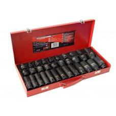 Combination impact socket set 33pcs,1/2''(L-38mm: 8-24,27,30,32mm, L-78mm:10,12-15,17,19,21,22,24,27