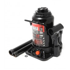 Bottle jack 10T low profile with valve + repair kit (h min-160mm, h max-290mm, rod step -80mm, screw