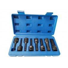 Spline impact socket bit set 8pcs, 1/2''(M5, M6, M8, M10, M12, M14, M16, M18), in a case