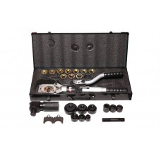 Hydraulic crimping tool 3 in 1 6.5T (max cutting Ø:40mm, punch: 22,27,34,43,49,60mm, clamping: 16,25