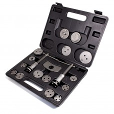 Brake caliper wind back tool kit 18pcs (right / left-hand drive), in a case