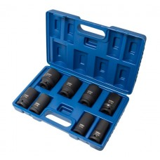 Deep impact socket set, 8pcs, 3/4''(22,24,27,30,32,36,38,41mm), in a case