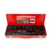 Air impact socket set 21pcs 3/4'', 6 point (17, 19, 21, 22, 24, 27, 30, 32, 34, 35, 36, 36-12 point,