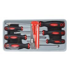 Magnetic screwdrivers set ''Profi''S2 6pcs (PH:1x75, 2x100, 3x150mm, SL 5.5х100, 6.5х150, 8х175mm), i