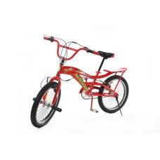 Trick Bike for teenagers with trunk (frame : steel, rigid forks, steel, rim brakes, soft, saddle, ri