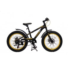 Fatbike for teenagers (frame: aluminium, wheels Ø:20'', 7 speeds, front / rear disc brakes, 4 ''tires
