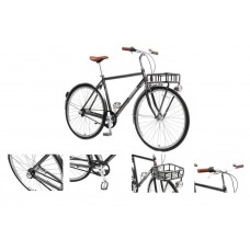 Bicycle Urban Classic M (Al 6061, rim 700с, front / back tires 35c, 3 planetary speeds, brake: U-Bra