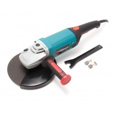 Angle grinder with rotary handle (220V, 2600W, Ø of disk 230mm, max 6400rpm)
