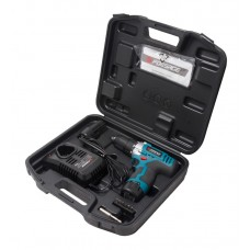 Li-ion cordless driver drill (10.8V, 1.5Ah, 22Nm, chuck 0.8-10mm, 2 LI-ion batteries), in a case