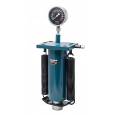 Hydraulic cylinder jack with pressure gauge and return springs 40T