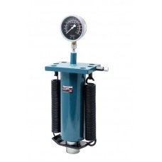 Hydraulic cylinder jack with pressure gauge and return springs 50T