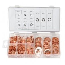 Copper washer assortment 400pcs
