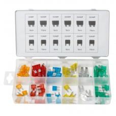 Mini blade glass fuse assortment set 80pcs (5А, 10А, 15А, 20А, 25А, 30А)