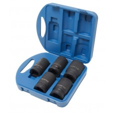 Impact deep flank socket set 5pcs, 1'', 6 point (27, 32, 33, 36, 41), in plastic case