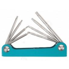 Folding Torx-wrenches set 8pcs (T5-T10, T15, T20)