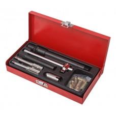Spark plug thread repair kit 26pcs, in a metal case