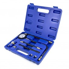 Fuel injector pressure test kit 8pcs (0-7bar), in a case