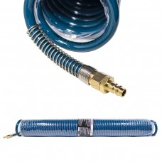 PU recoil hose 10mm х 14mm х 20m with fittings (brass, max pressure - 15bar, working temperature fro