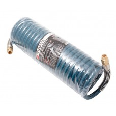 PU recoil hose 12 х 18mm х 10m with outer threaded tips 1/2''(brass, max pressure - 15bar)
