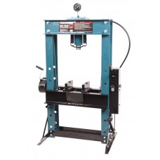 Shop press 50T, arm/foot drive (operating height: 0-865mm, operating width: 645mm, workbench: 325х64