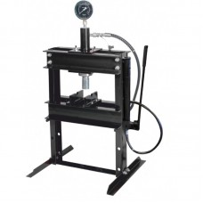 Shop press 12T, table-top with pressure gauge and remote pump (operating height: 0-340mm, operating