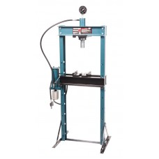 Shop press with pressure gauge 20T, arm/air drive (operating height: 0-1100mm, operating width: 490m