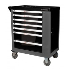 Service tool cabinet with tools 7 drawers (black) with additional side section, 600х840х980 (drawers