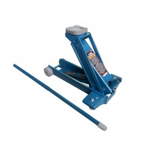 Hydraulic floor jack 2T reinforced (pickup height - 145mm, lifting height - 560mm, replaceable polyu