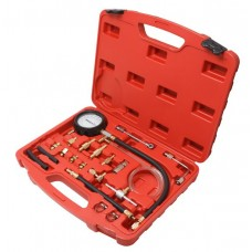 Fuel injector pressure test kit with adaprors 20pcs (0-10Bar), in a case
