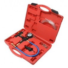 Cooling system vacuum purge and refill kit, in a case