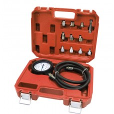 Engine oil pressure tester kit with threaded adapters 12pcs, in a case