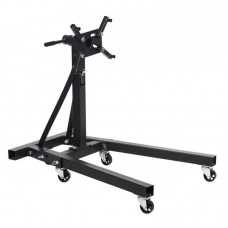 Engine stand with tool shelf 900kg (4 wheels, 4 safety stops)