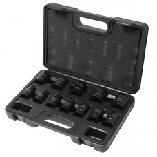 Impact socket set 12pcs 1/2'', 6 point (10,12,13-19,21,22,24mm), in a case