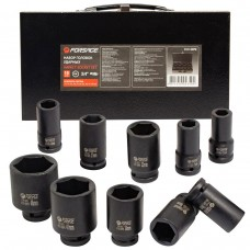 Impact socket set 10pcs, 3/4''(6 point), (17,19,22,24,27,30,32,36,41,46mm), in a case