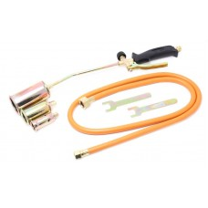 Gas torch head with nozzles and flexible hose (nozzles-25,35,50mm, L-390mm, L hose-1.5m), in blister