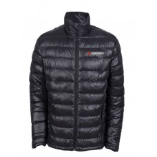 Waterproof down-jacket with electric heating (р.48-50, black, battery:5V, 2A, from 10000 mAh, 3 heat