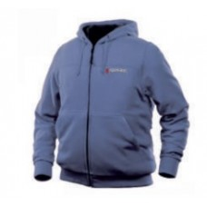 Warm waterproof jacket with electric heating (р.44-46, blue, battery:5V, 2A, from 10000 mAh, 3 heati