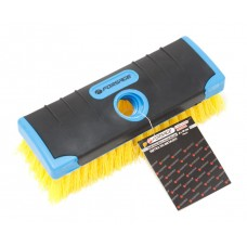 Soft grip nylon wire scrub brush block with threaded opening (brush width 18cm, plastic wire 6х19 ro