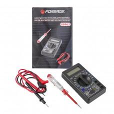 Digital multimeter and voltage detector kit (digital multimeter, indicator screwdriver)
