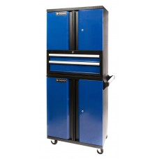 Service tool cabinet with tools 2 drawers + double-wing cabinet and perforation (1530х660х450mm, dou
