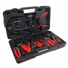 Tool set for replacing hose clamps and hoses 9pcs, in a case